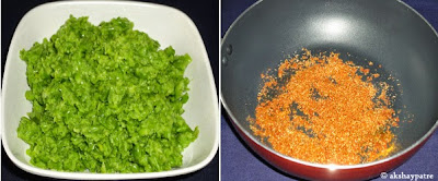 spice powder fried to make paratha