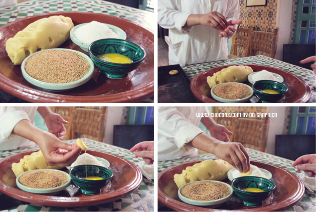 galletas marroquís - taller de repostería en Marrakech