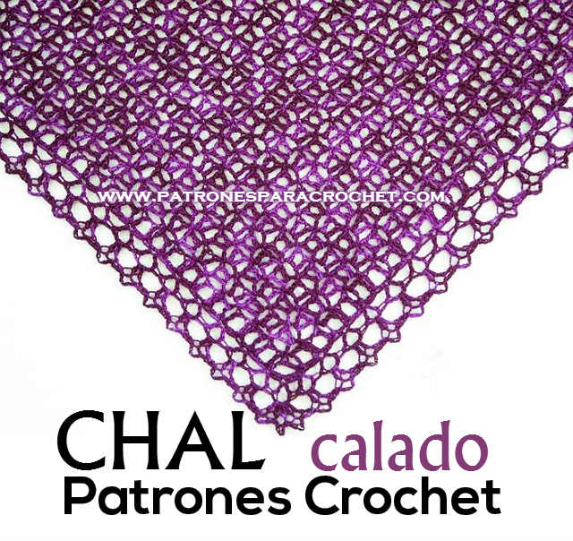 Un Chal Magnífico y Muy Fácil / Patrones | Patrones para Crochet