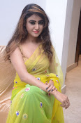 Sony Charista sizzling look in saree-thumbnail-6
