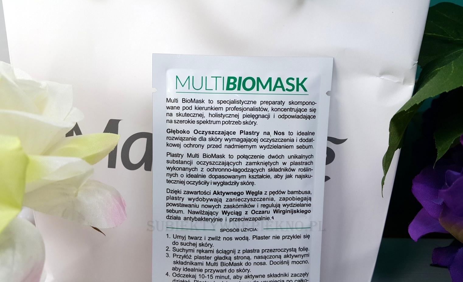 Głęboko oczyszczające plastry na nos Multi Biomask działanie, opinie, blog