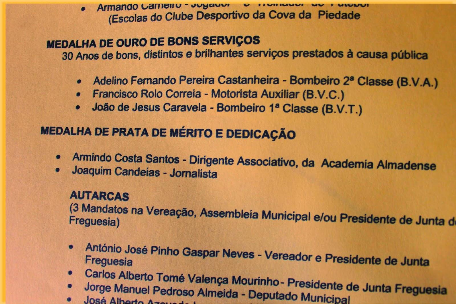 O Municipio de Almada vai distinguir várias personalidades e instituições  que se destacaram em vários dominios da vida coletiva do concelho.A  cerimóniade ... 7a58c6fd2c0ed