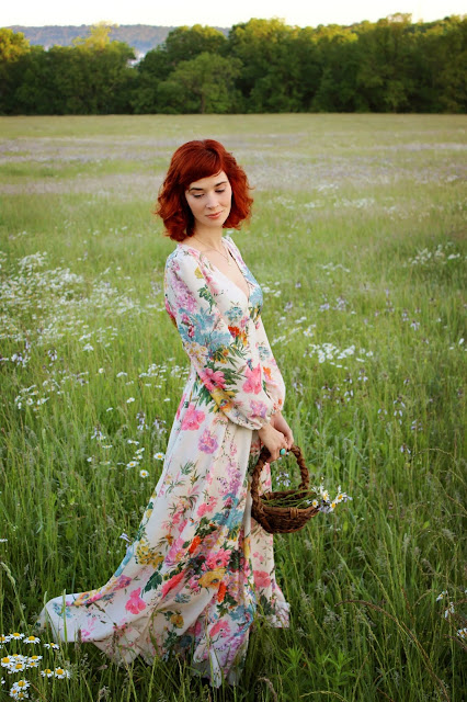 Only in Dreams Floral Maxi Dress from ChicWish summer retro 70s style romantic