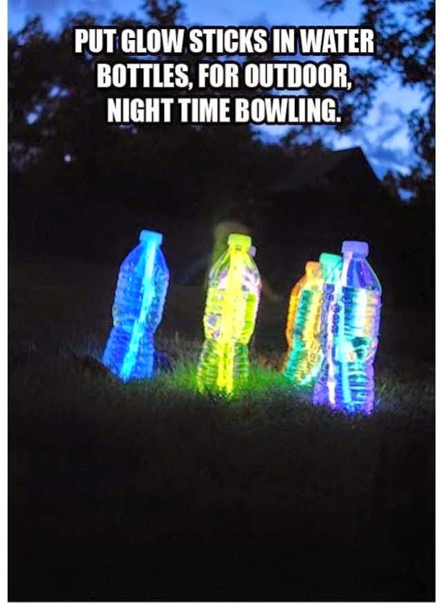 Water Bottle Glow Bowling