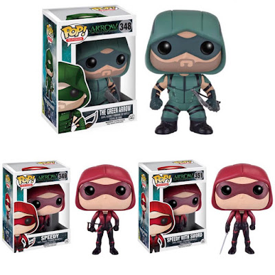 Arrow TV Series Pop! Series 2 Vinyl Figures by Funko – Green Arrow, Speedy & Speedy with Sword