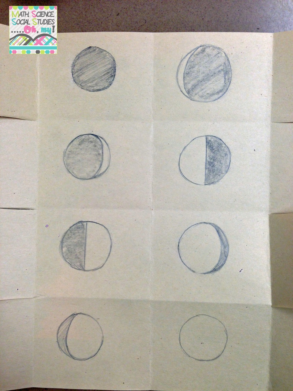 Math Science Social Stu S Oh My Foldable Friday Phases Of The Moon