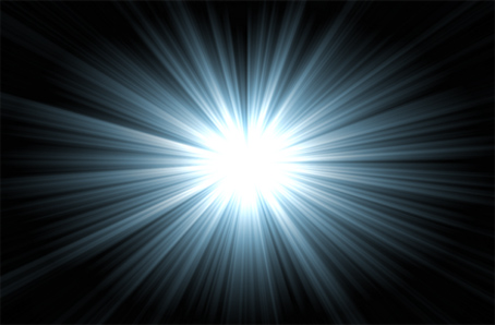 Cette image très simple consiste en un fond noir dont le centre est occupe par une lumiere blanche qui rayonne a partir de ce entre en des rayons bleutes de plus en plus sombres a mesure qu'ils se rapprochent des bords de l'image. Il s'agit d'une espece de soleil bleu. Cette image d'une beaute simple accompagne le poeme Near Death Experience du Marginal Magnifique dans lequel l'immense poete exprime sa vision d'une societe destructrice a plus d'un titre et donc mortifère pour l'individu. Il apparente la vie en son sein a une mort avant la mort, une mort dans la vie, qui ressemble a une experience de mort imminente telle que peuvent la vivre et la raconter certaines personnes. L'image, avec cette vive lumiere, symbolise donc la lueur que ces personnes qui ont vecu des N.D.E disent avoir vue. Il est d'ailleurs maintenant couramment admis, a tort ou a raison, de representer le passage vie a trepas par un tunnel au bout duquel s'aperçoit une lumiere vive. Le Marginal Magnifique, dans un souci de purete et d'esthetisme, a choisi de faire abstraction du tunnel pour ne conserver que cette lumiere vive, que le bleu revet d'une aura mystique. Encore un superbe poeme metaphysique et subversif du Marginal Magnifique !