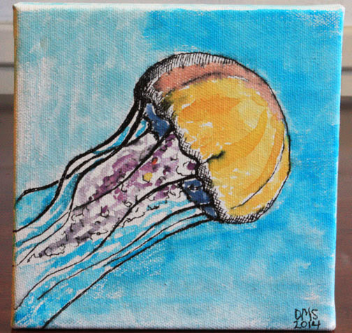 Jellyfish Painting for NAID Fundraiser Show