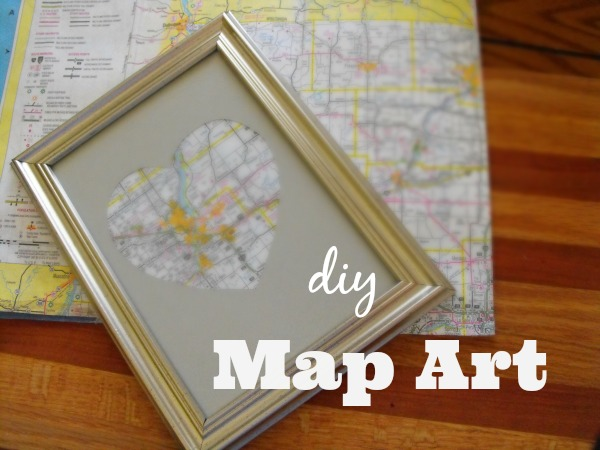 How to Make a DIY Heart Map Art