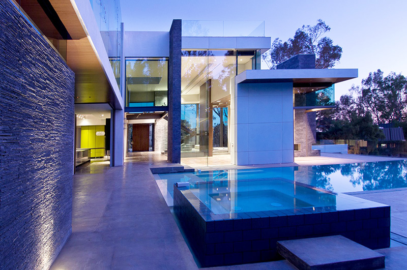Gorgeous Green Modern Beverly Hills Home With A Bowling