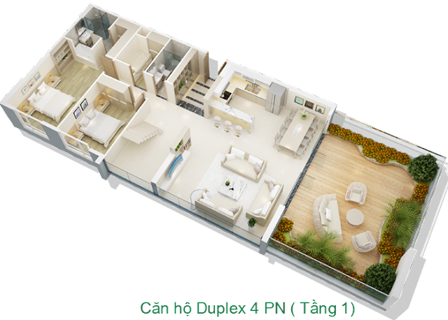 Căn hộ Duplex Mỹ Đình Pearl