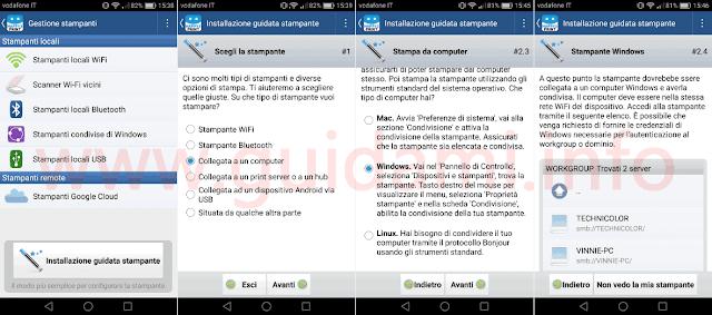 App Android iOS Happy2print Installazione guidata stampante