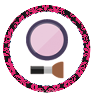 Make Up Party Free Printable Cupcake Toppers.