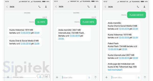 format SMS cek kuota Telkomsel