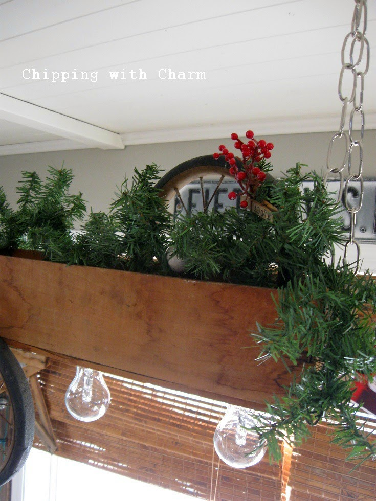 Chipping with Charm: Hanging Crate Light Fixture...http://www.chippingwithcharm.blogspot.com/