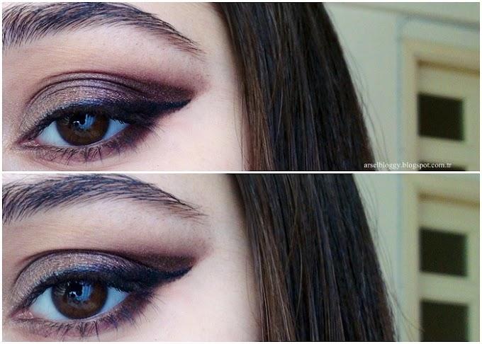 Gösterişli göz makyajı