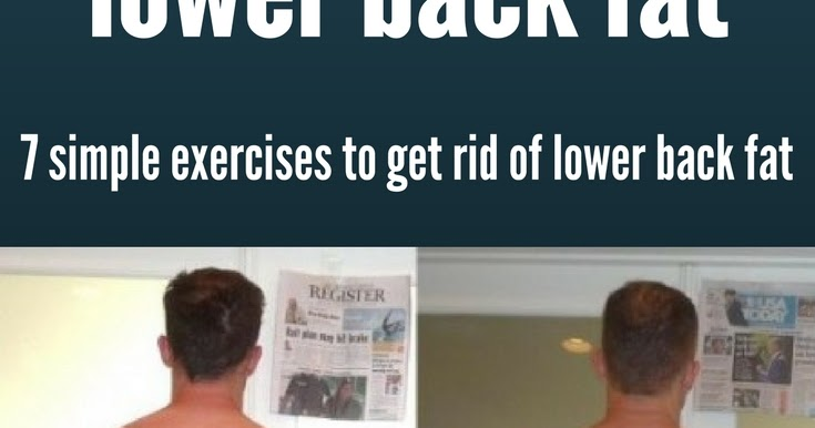 Men\u0027s Corner How to get rid of lower back fat once and for all