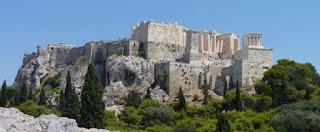 Vistas de la Acrópolis de Atenas.