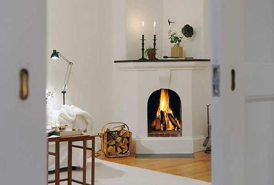 Modern Scandinavian Fireplace: Shabby In Love: Scandinavian Fireplaces