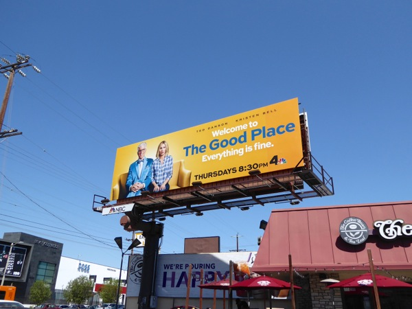 The Good Place TV billboard