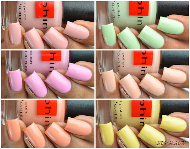 Sophin Macaroons Collection Swatches