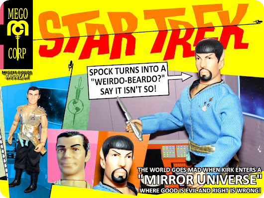Star Trek Mirror Universe Kirk and Spock 8 Inch Retro Action Figures - Mego Corporation (2018)