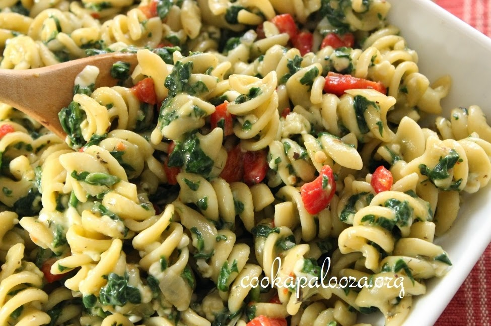 Two-Cheese Spinach Pasta Toss