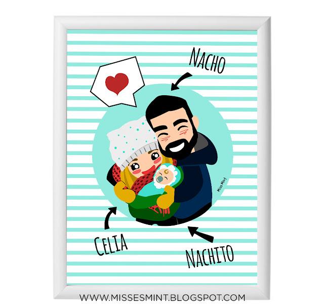 regalos originales bebé ilustraciones miss mint
