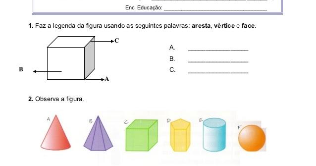 Avaliao slidos geomtricos 5 ano atividades de matemtica ccuart Image collections