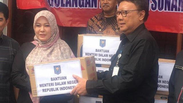Penanganan Tsunami Selat Sunda, Mendagri Minta Pemprov Banten Gunakan Dana APBD