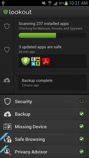 download lookout antivirus for android