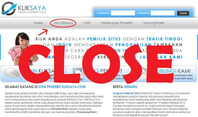 Situs Kliksaya.com tidak bisa dibuka atau di akses lagi, Kenapa ???
