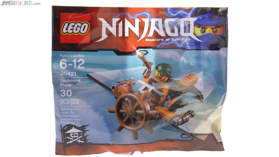 lego ninjago skybound plane polybag review 30421