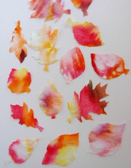 Fall Leaf Garland Craft for Kids