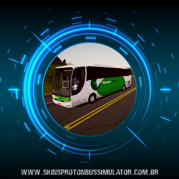 Skin Proton Bus Simulator Road - G6 1050 MB O-500R 4X2 Pássaro Verde