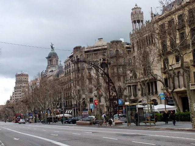 itinerario por el centro de barcelona