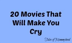 tear jerkers, make me cry, sad movies,