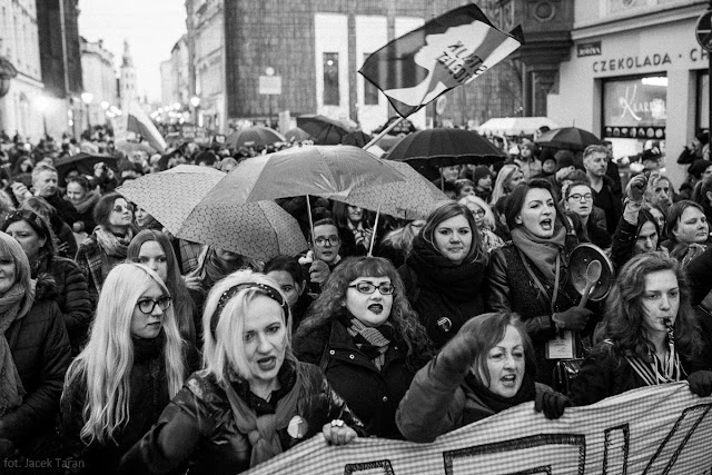 Międzynarodowy Straj Kobiet, Krakow 2017, fot. Jacek Taran