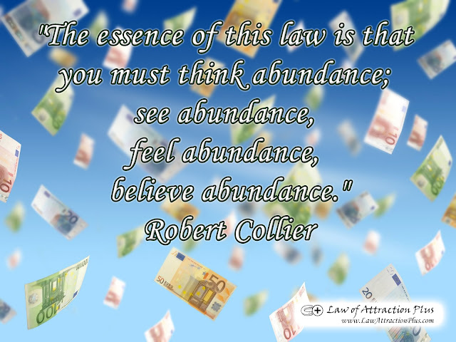 Free Law of Attraction Wallpaper with Quote by Robert Collier abour Abundance