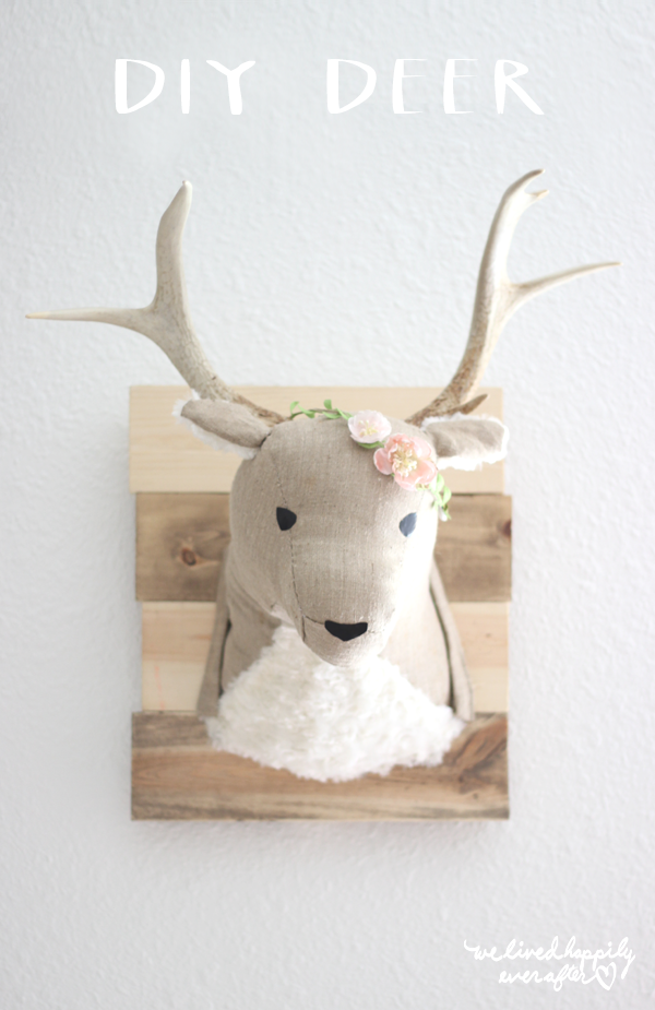 diy fabric deer head