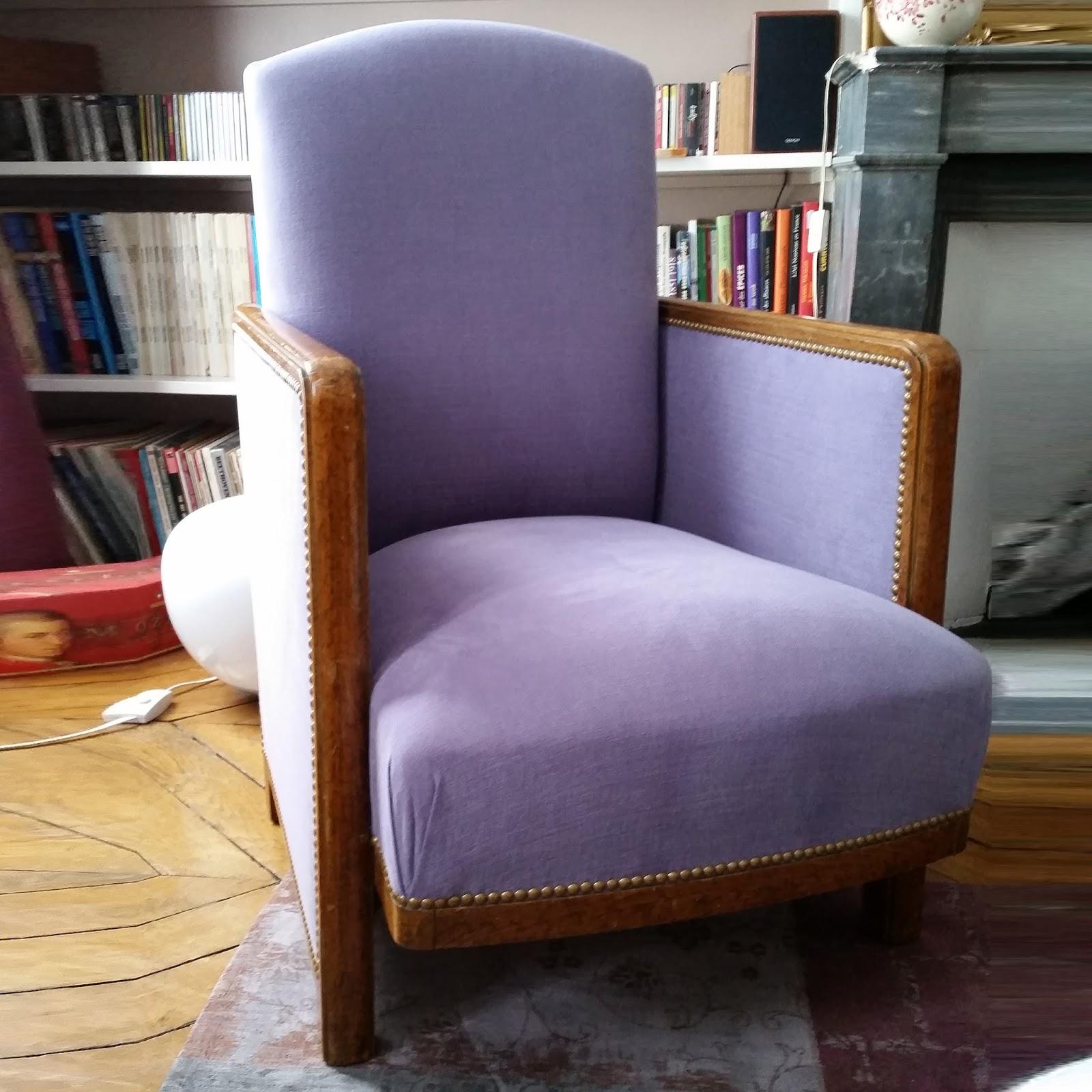 avant apr s fauteuil ann es 30 atelier velvet. Black Bedroom Furniture Sets. Home Design Ideas