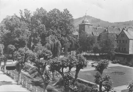 heutiger Beauner-Platz, Blick auf den Dalberger Hof, Quelle Stadtarchiv Bensheim / Bereich-Beauner-Platz / lfd.No. 0005.jpg