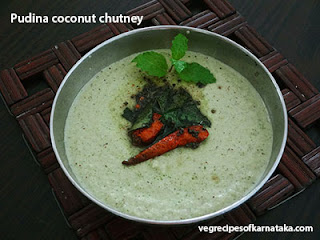 Pudina coconut chutney recipe in Kannada