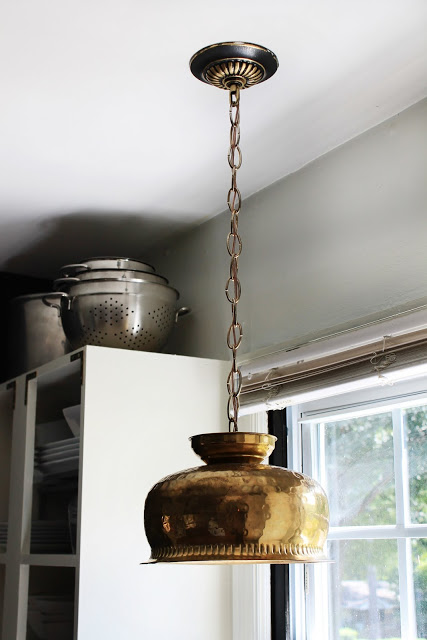 Goodwill bowl turned pendant light