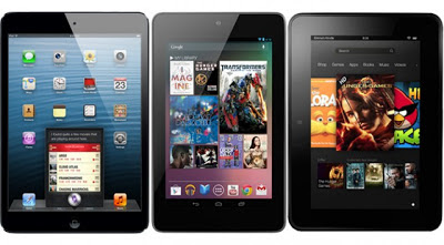 iPad Mini vs. Nexus 7 vs. Kindle Fire HD