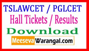 TSLAWCET 2017 / TSPGLCET-2017 Hall Tickets / Results Download