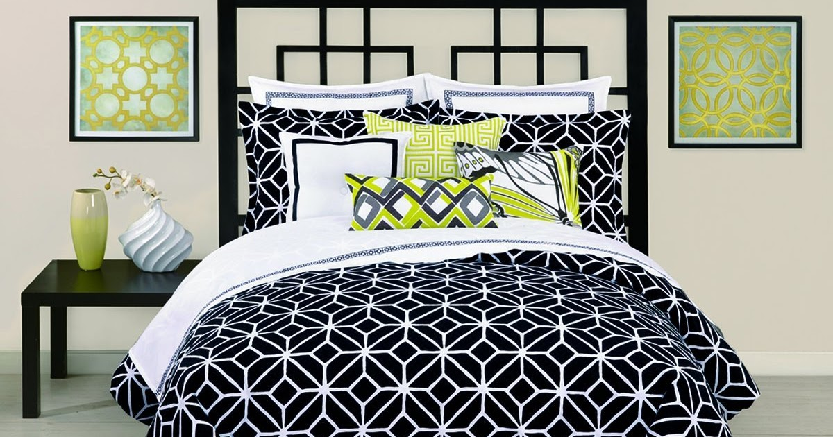 Total Fab: Modern Black and White Geometric Themed Bedding ...