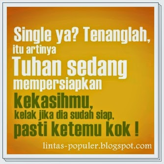 Gambar DP BBM Jomblo Single Keren Bahagia