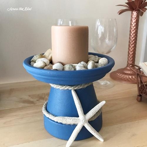 Tempat lilin dari pot terakota