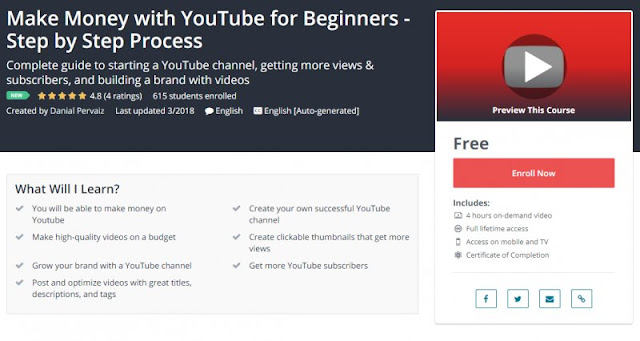 [100% Free] Make Money with YouTube for Beginners - Step by Step Process